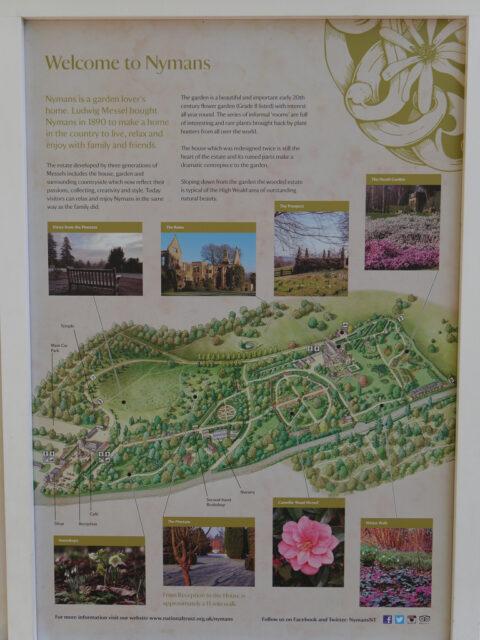 Plan von Nymans Garden