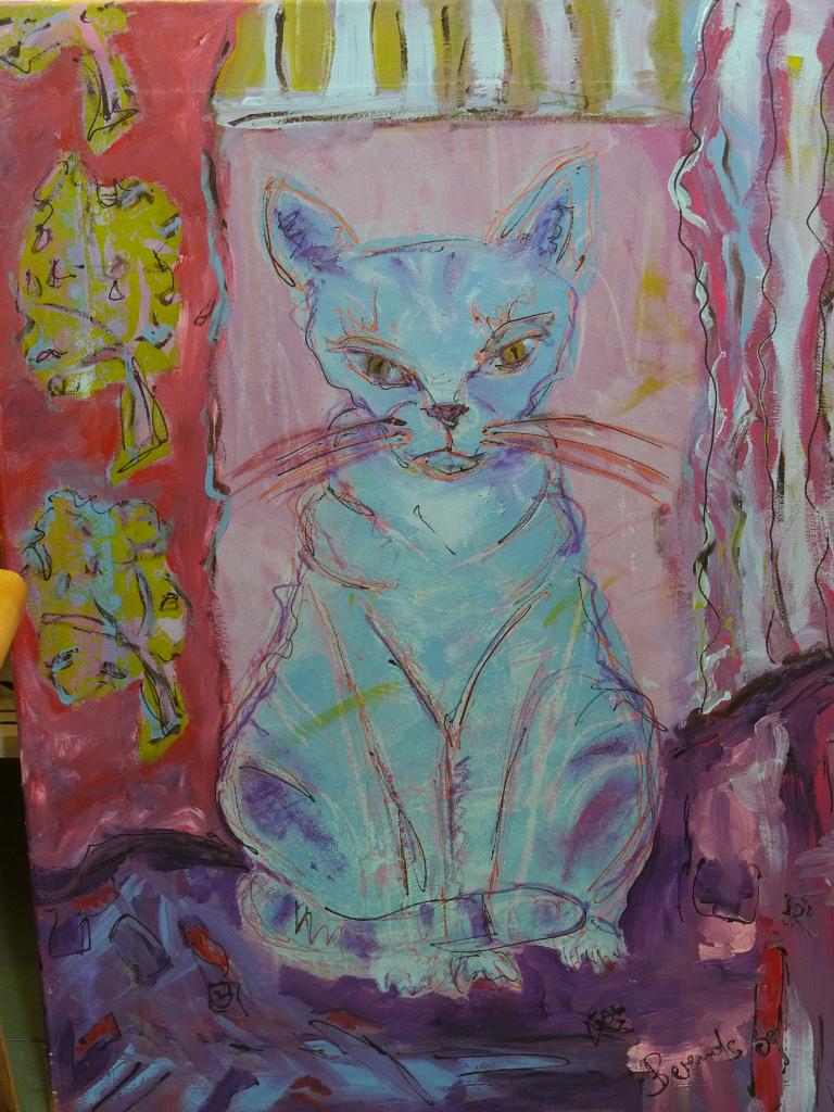 Die gemalte LATÜT-Katze