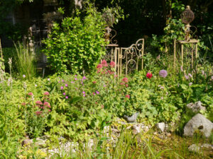 Juli-Blüten am Paradiestor in Wurzerls Garten
