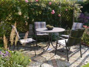 Terrassen-Sitzplatz, Eulengarten, Martina Krause, Braunschweig