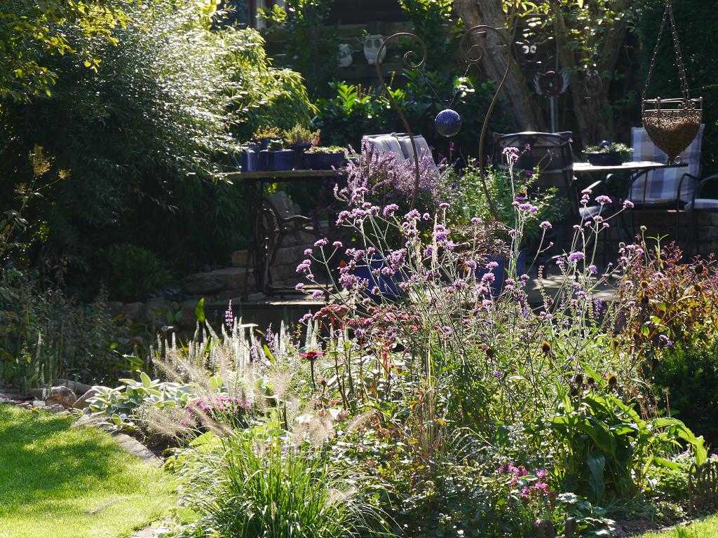 Blick in den hinteren Garten, Eulengarten, Martina Krause, Braunschweig