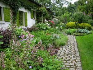 Eingangsbereich, Garten Dina Deferme, Belgien