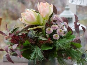 Weihnachtlicher Blumenstrauß in Wurzerls Wintergarten