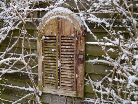 Wurzerlsgarten im Winter, der Spiegel
