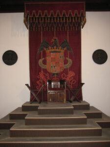 Repräsentationsraum mit Thron, Museo de las Casas Reales