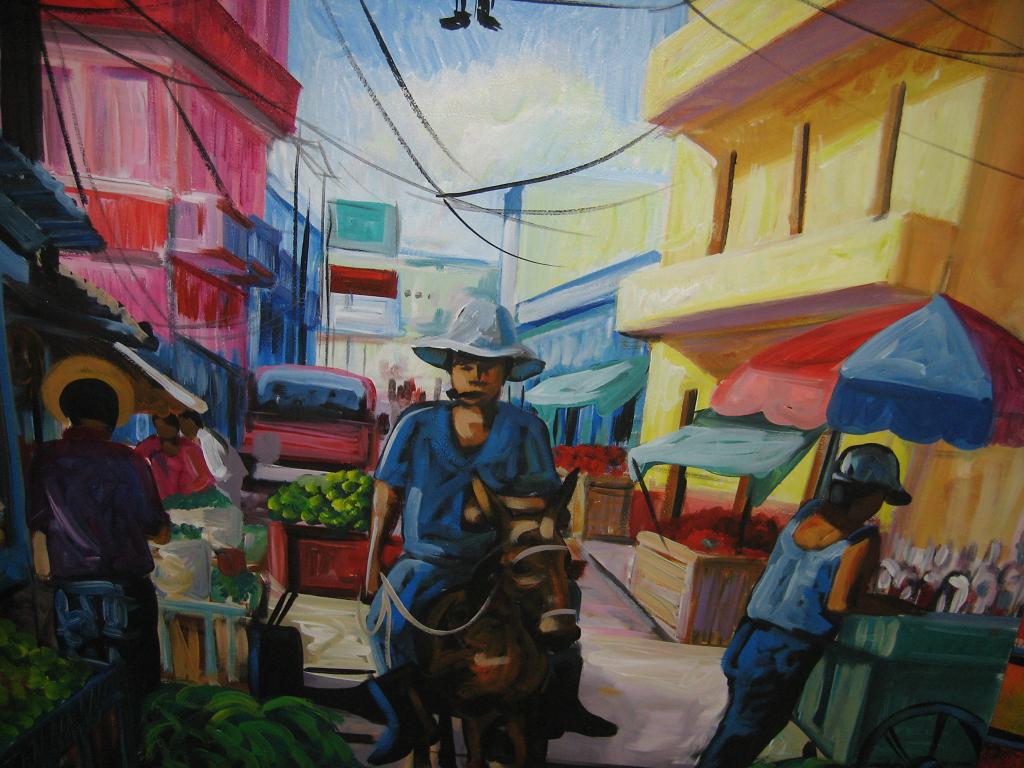 Naive Kunst für Touristenläden in Santo Domingo