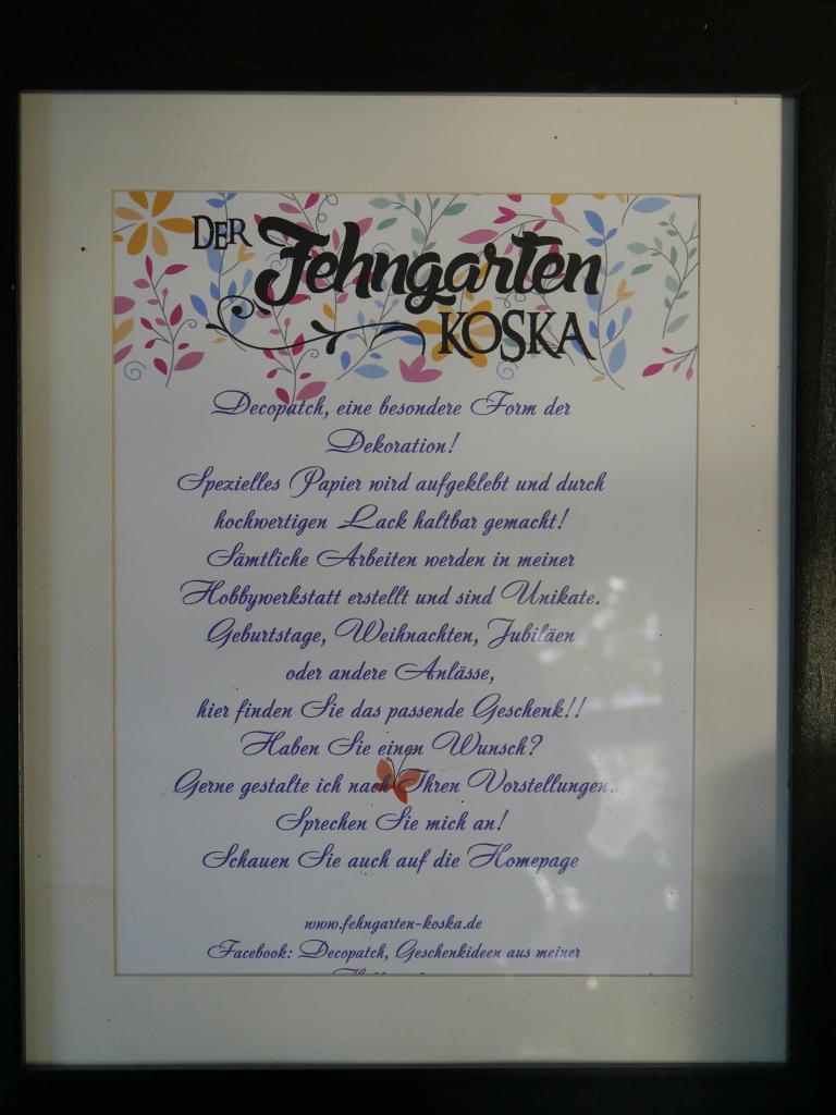 Decopatch, Fehngarten Ulrike Koska