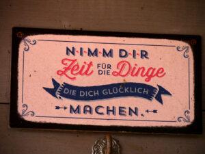Ein gutes Motto für Alle, Fehngarten Ulrike Koska