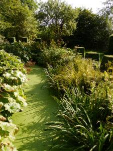 Wassergraben im Garten Moorriem