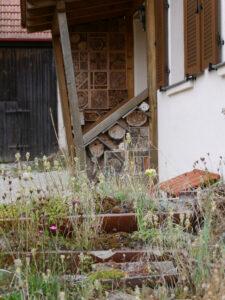 Insektenhotel im Haus-Eingangsbereich Markus Gastl