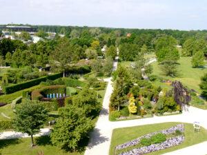 Blick vom Aussichtsturm des Parks der Gärten, Bad Zwischenahn