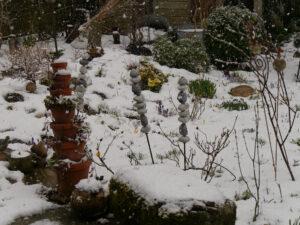 Ende Februar fängt es erneut zu schneien an in Wurzerlsgarten