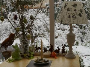 Blick vom Wintergarten in Wurzerlsgarten
