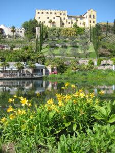 Wassergarten vor Schloss Trauttmansdorff