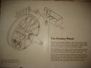 Donkey Wheel, Esels-Tret-Mühle in Greys Court