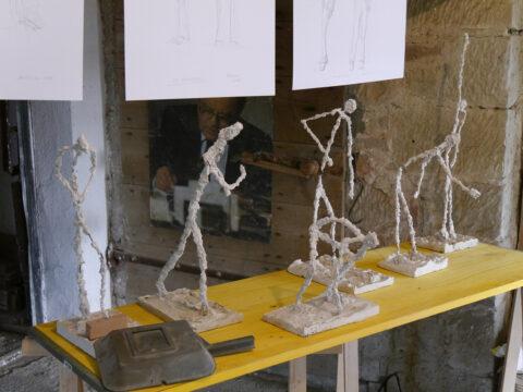 Modelle und Skizzen im Atelier Reinhard Schneider