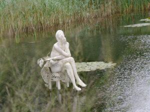 Große Teichlandschaft am Eingang zur Garten Tulln