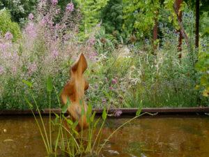 Epilobium und Echinops in der Garten Tulln