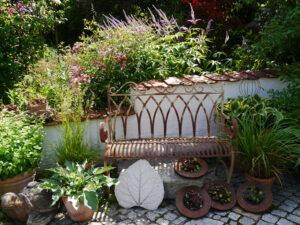 Eingangsbereich zum Garten Halwax
