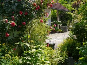Gartenende vor der Einfahrt, Garten Halwax