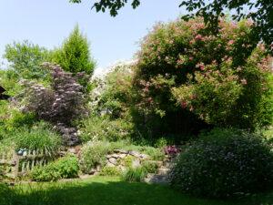 Die untere Ebene im Garten Josefine Heinze, Grattersdorf