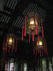 Im Inneren der Empfangshalle des Yu Garden