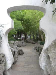 tibetischer Flaschendurchgang im Yu Garten, Shanghai
