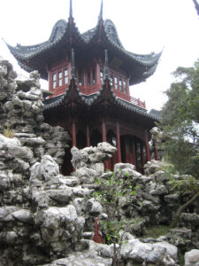 Haus des Frohsinns auf künstlichem Felsen,Yu Yuan, Yu Garden in Shanghai