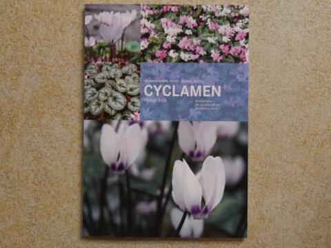Buchcover CYCLAMEN von Ottmar Funk, aus der Schriftenreihe der Gesellschaft der Staudenfreunde.