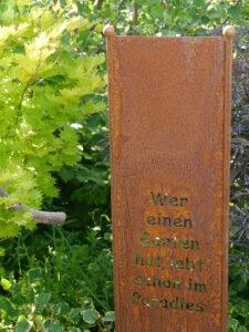 Eingang in den Schattengarten, Chiemgau-Kaktus, Michael Kießling